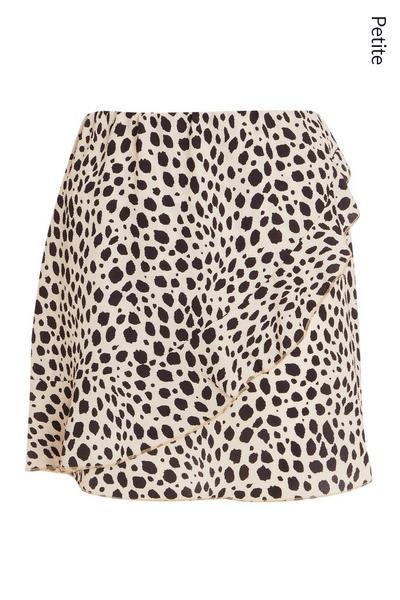 Petite Stone Animal Print Skirt